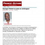 Article de France-Guyane du 31 mai 2010
