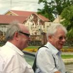 Les sénateurs Bernard Frimat et Christian Cointat à Saint Laurent du Maroni