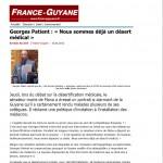 Georges Patient : « Nous sommes déjà un désert médical »