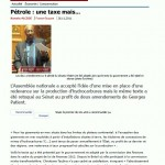 Article de France-Guyane du 26 novembre 2011
