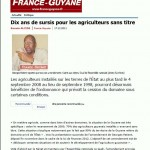 Article de France-Guyane du 17 décembre 2011
