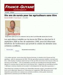 Article de France-Guyane du 17 décembre 2011