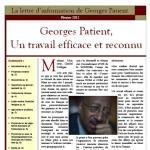 Couverture de la lettre de Georges Patient - février 2012
