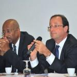 François Hollande et le sénateur Georges Patient