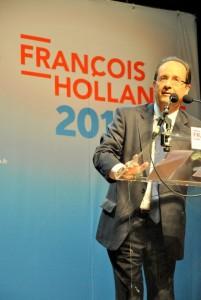 François Hollande en meeting en Guyane - janvier 2012