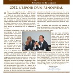 Bilan 2012, l&#039;espoir d&#039;un renouveau