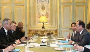 Réunion sur la révision des RGEC avec le Président de la République