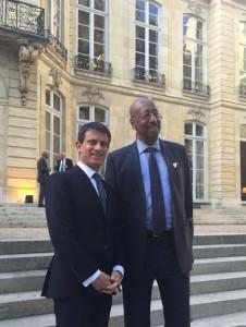 Rencontre avec le Premier Ministre, Manuel Valls. Hôtel Matignon, septembre 2015.