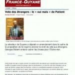 Article de France-Guyane du 7 décembre 2011