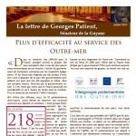 Couverture de la lettre de Georges Patient - juillet 2013